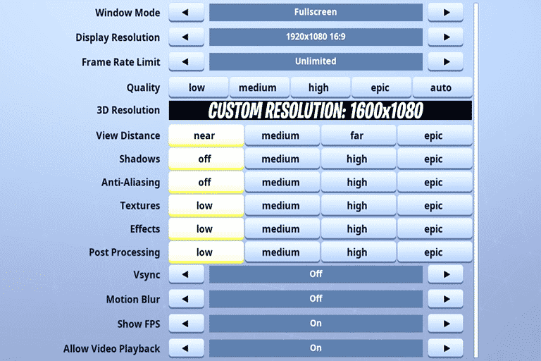 Best Fortnite Settings Keybinds For Keyboard And Mouse Pro